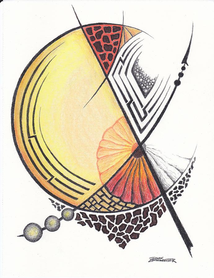 Pastel Drawing - Alternate Moon by Buck Buchheister