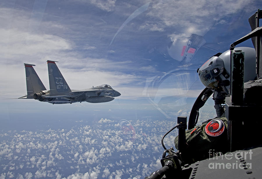 An F-15 Eagle Pilot Flies In Formation Photograph
