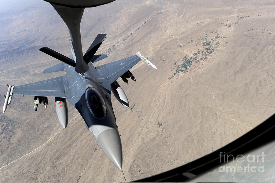 An F-16 Fighting Falcon Receives Fuel Photograph