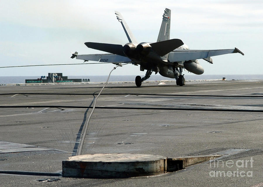 An Fa-18c Hornet Makes An Arrested Photograph