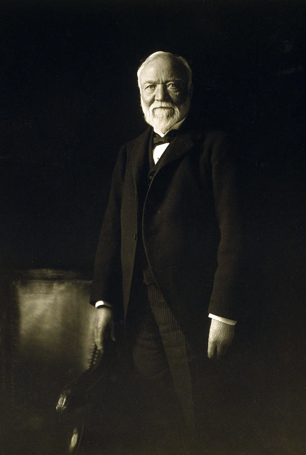 Andrew Carnegie, April 5, 1913 Photograph  - Andrew Carnegie, April 5, 1913 Fine Art Print