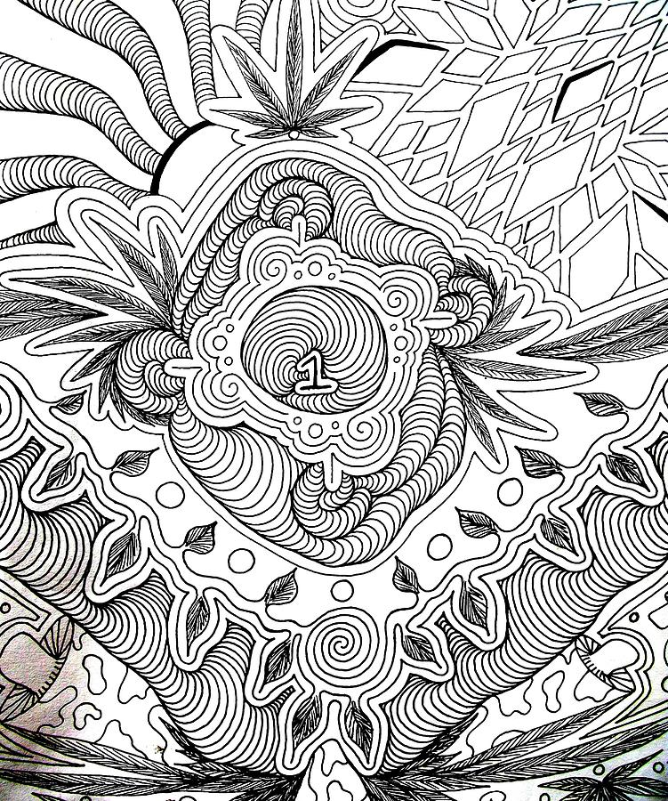 Trippy Weed Coloring Pages Www Imgkid Com The Image Trippy Pot Leaf Coloring Pages