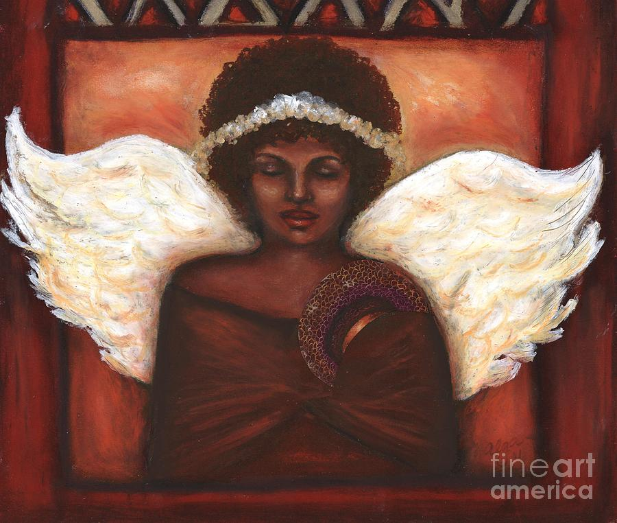 Angel Mixed Media  - Angel Fine Art Print