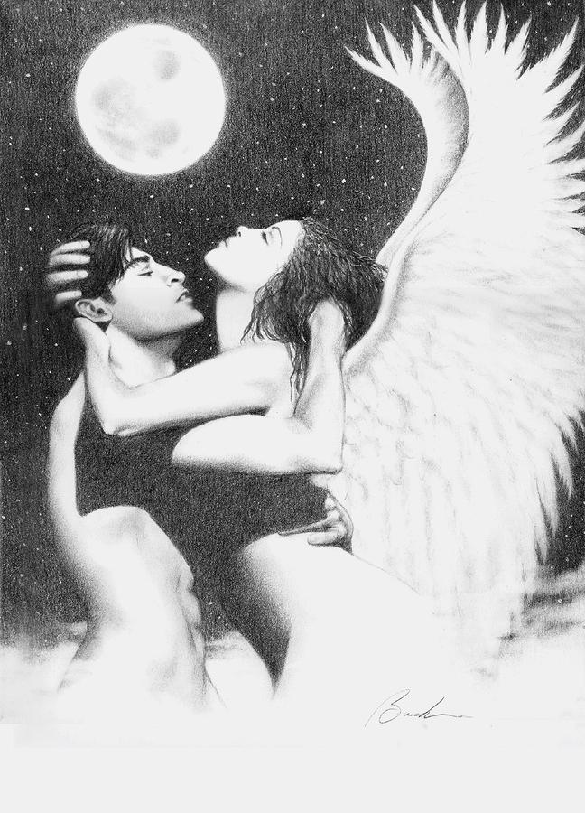 Angel Embrace Drawing