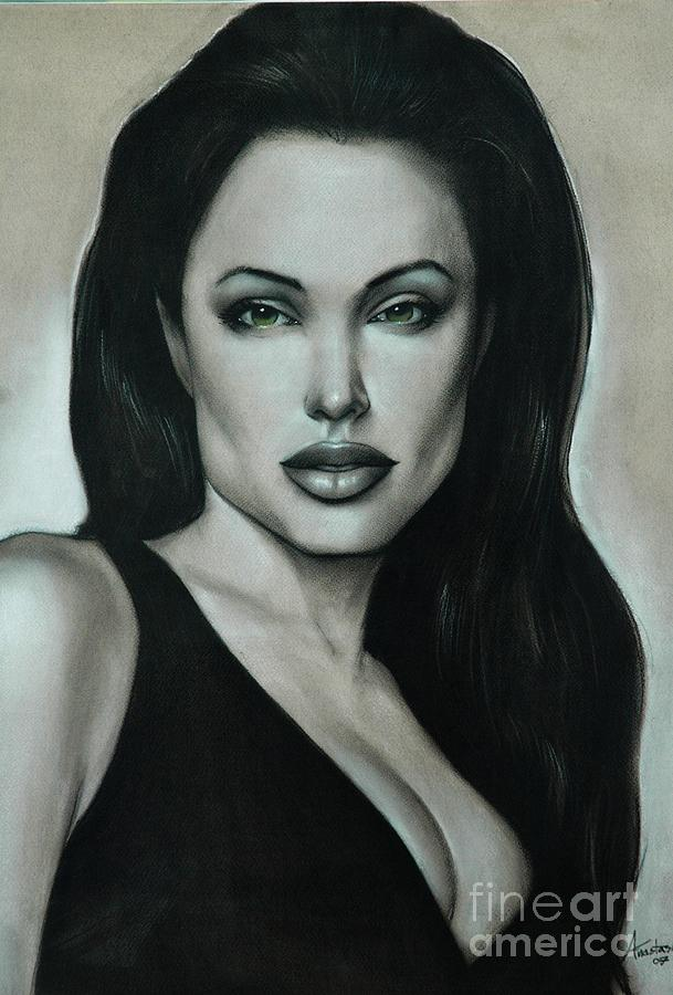 Angelina Jolie Painting