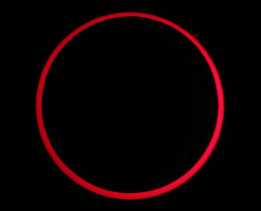 Annular Solar Eclipse Photograph