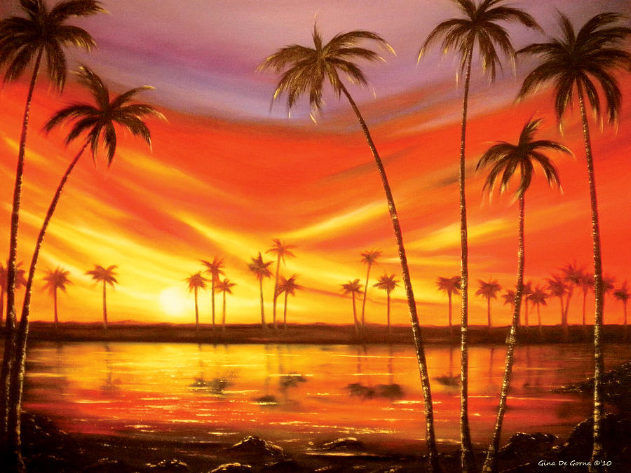 Another Sunset In Paradise Painting  - Another Sunset In Paradise Fine Art Print