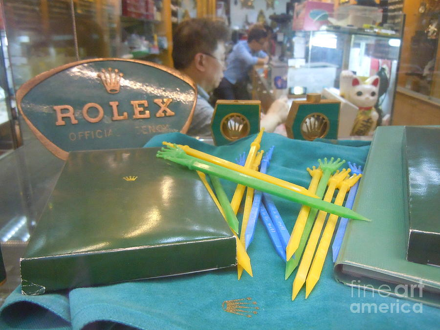 antique shop Rolex vintage tools Painting