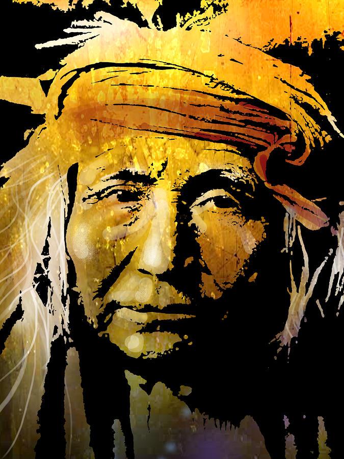 Apache Brave Painting