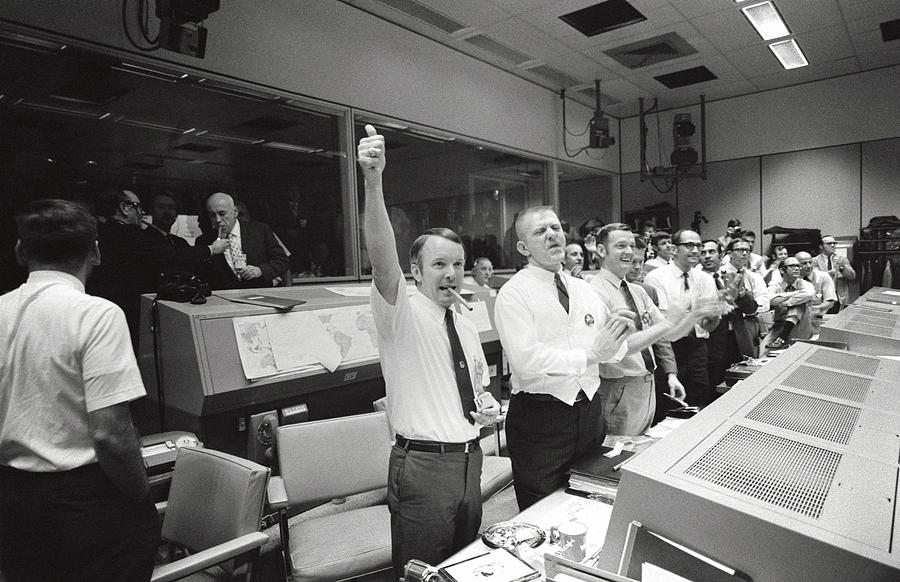 Apollo 13 Flight Directors Applaud Photograph  - Apollo 13 Flight Directors Applaud Fine Art Print