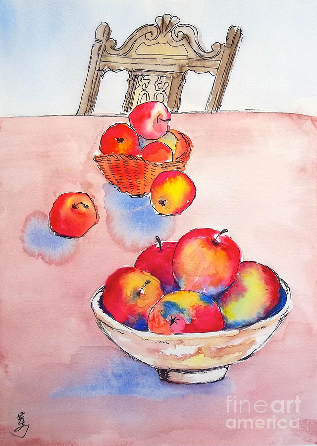 Apples  Apples Painting  - Apples  Apples Fine Art Print