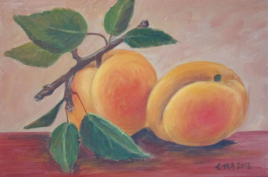 Apricot Painting - Apricot by Ema Dolinar Lovsin