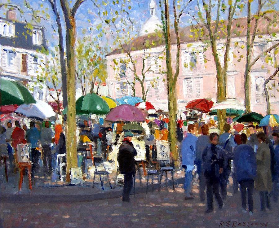 April In Paris Painting  - April In Paris Fine Art Print