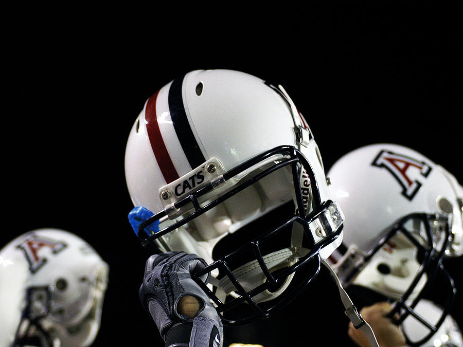 Arizona Football Helmets Photograph
