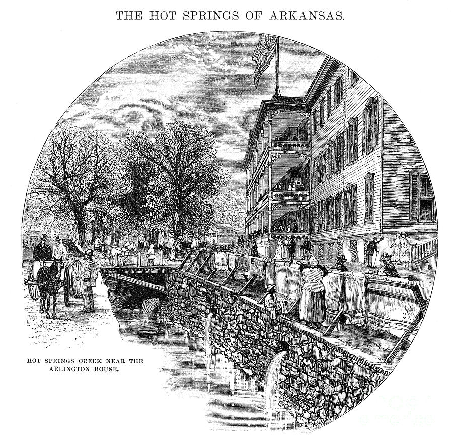 Arkansas: Hot Springs Photograph  - Arkansas: Hot Springs Fine Art Print