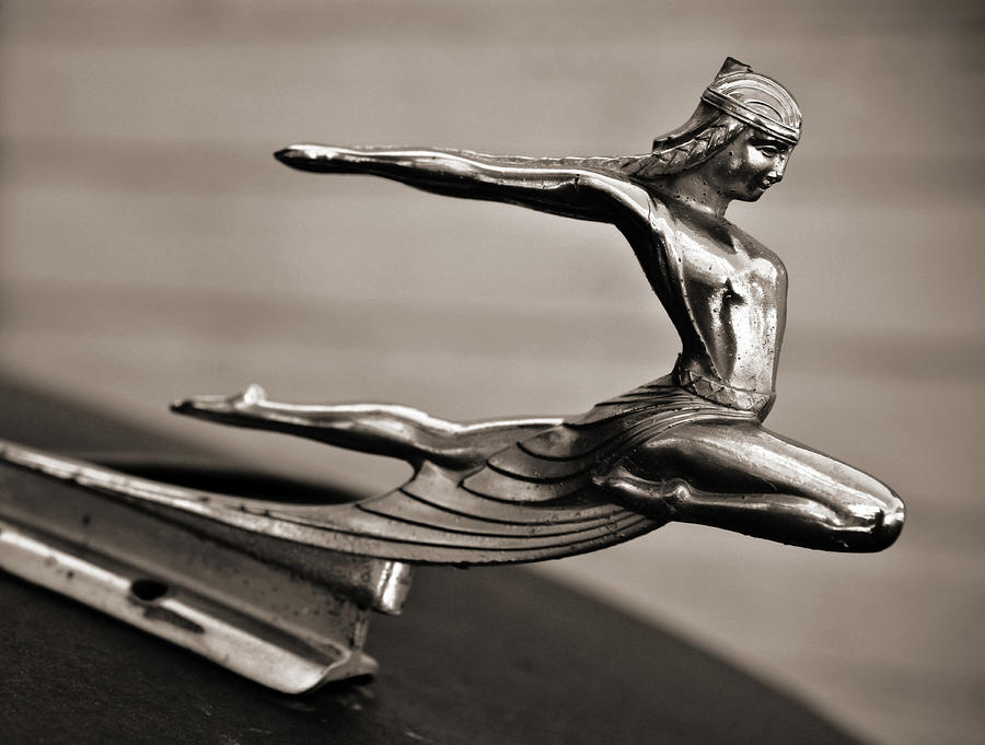 Art Deco Hood Ornament Photograph  - Art Deco Hood Ornament Fine Art Print