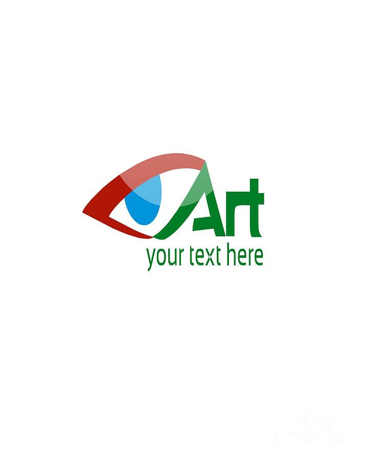 Paint Digital Art - Art Logo Template by Mostafa Asmer