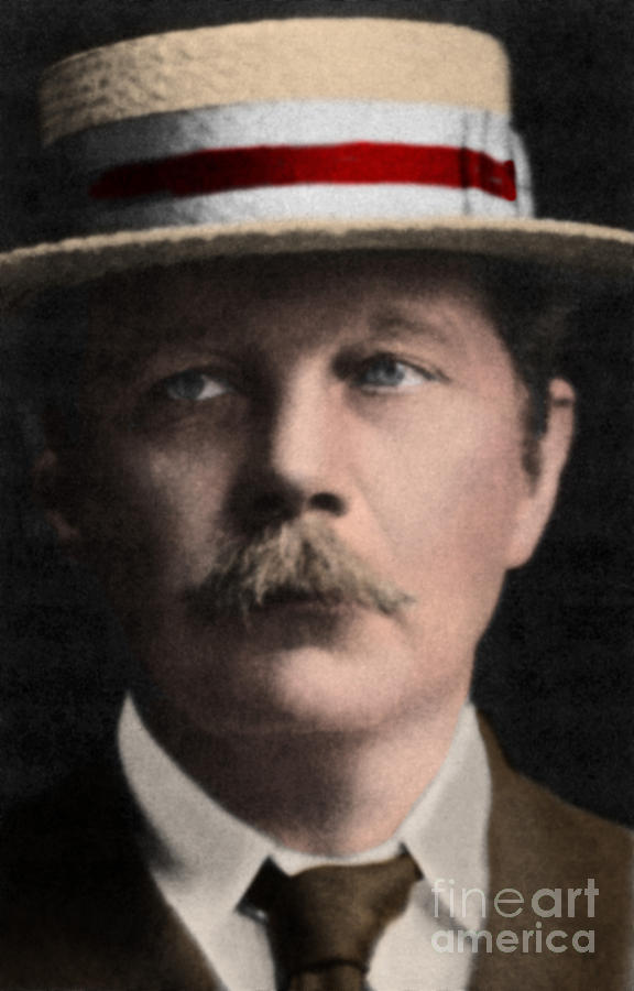Arthur Conan Doyle, Scottish Author Photograph  - Arthur Conan Doyle, Scottish Author Fine Art Print