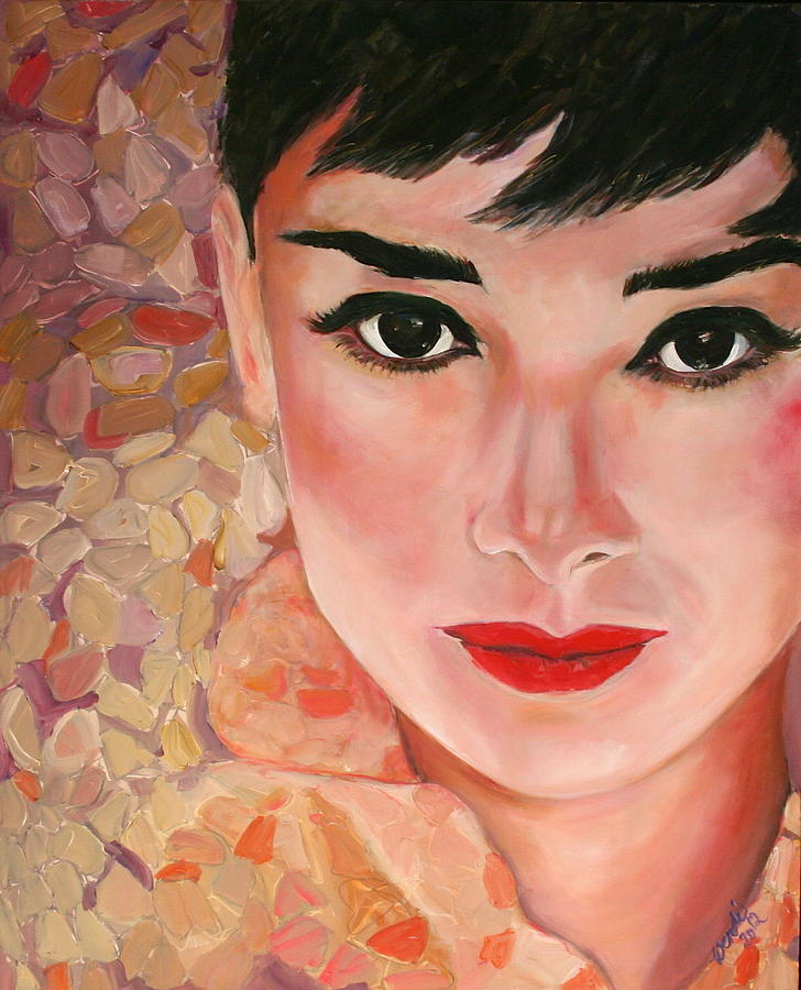Audrey Painting by Wendi Strauch Mahoney