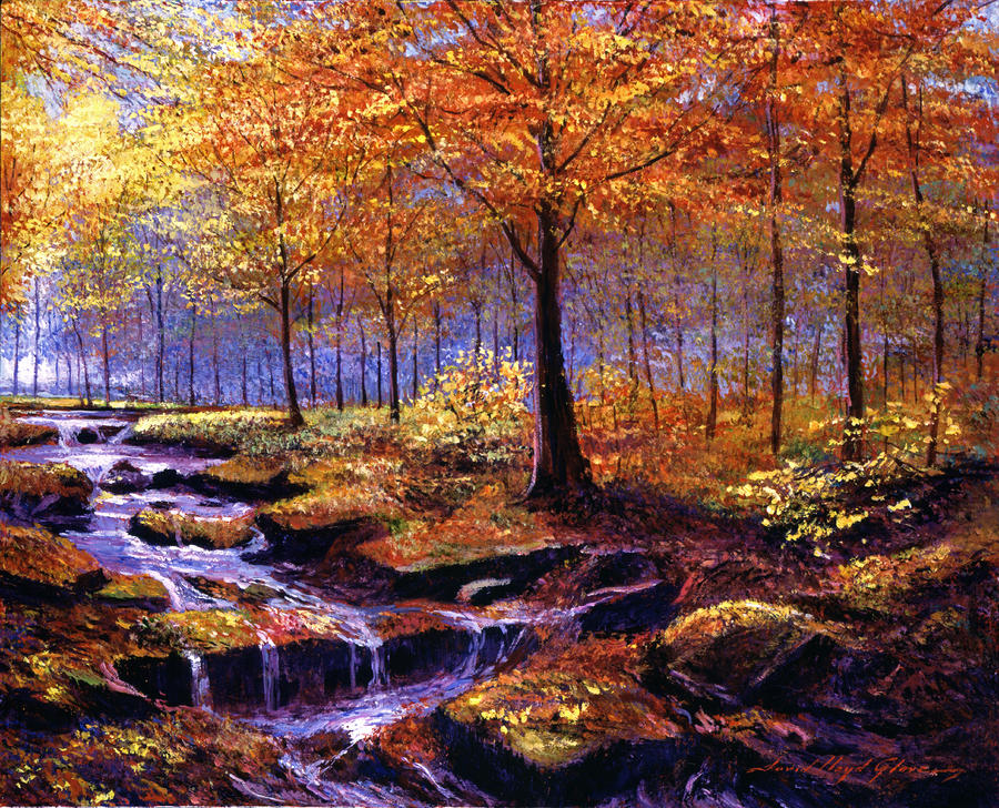 Autumn In Goldstream Park Painting