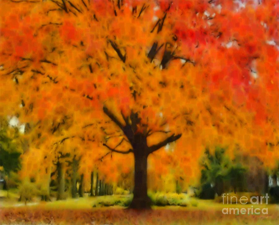 Autumn tree by elizabeth coats for Autumn tree painting