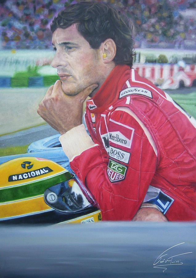 Ayrton Senna Da Silva Painting