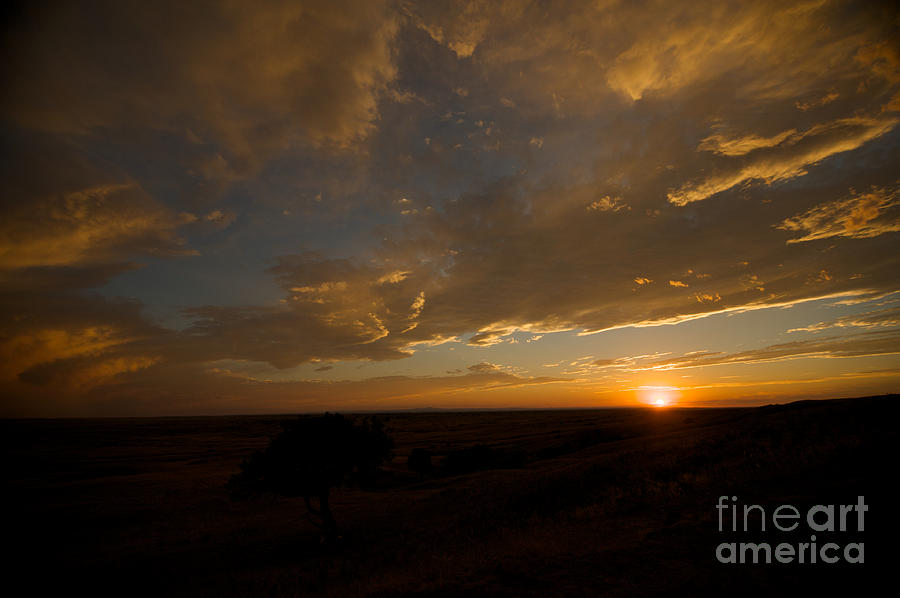 Badlands Sunset Photograph