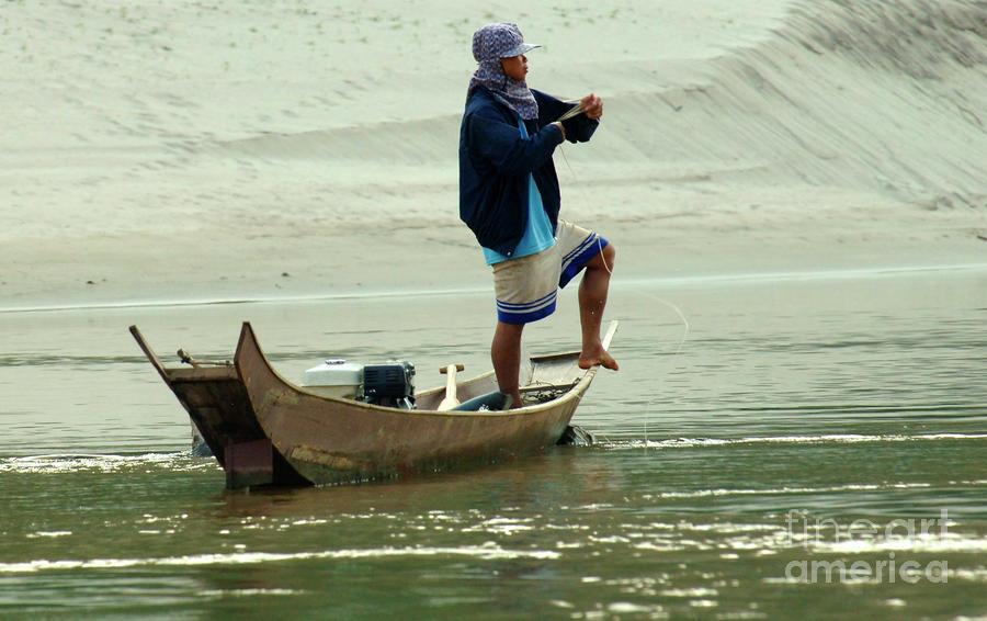 Mekong Photograph - Balancing  Act  by Bob Christopher