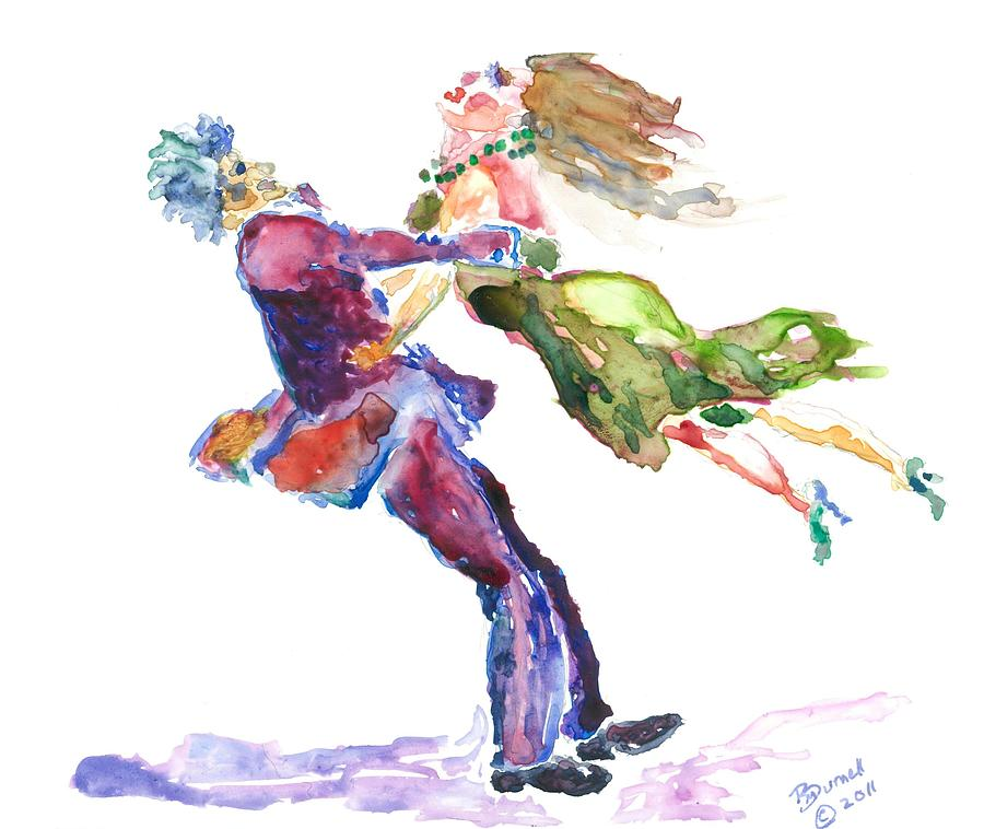Ballroom Flight Painting  - Ballroom Flight Fine Art Print