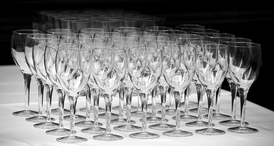 Banquet Glasses Photograph