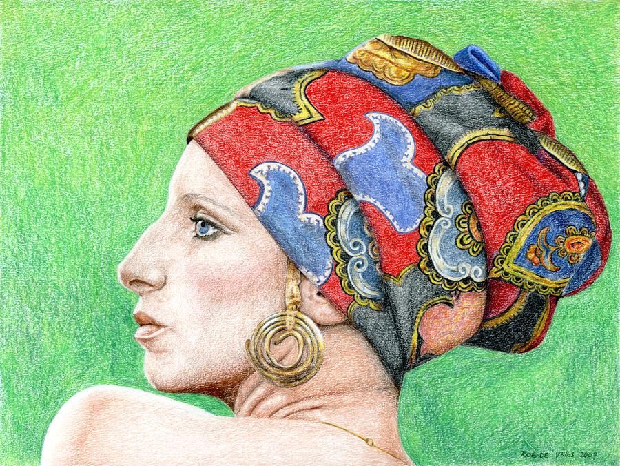 Barbra Streisand Drawing
