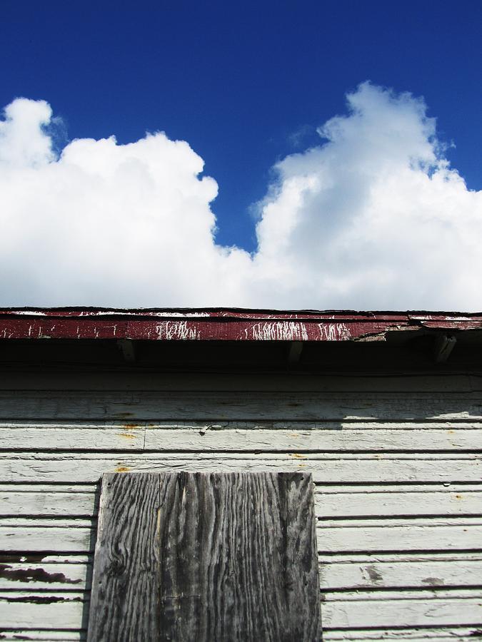 Barn And Blue Sky Photograph - Barn-34 by Todd Sherlock
