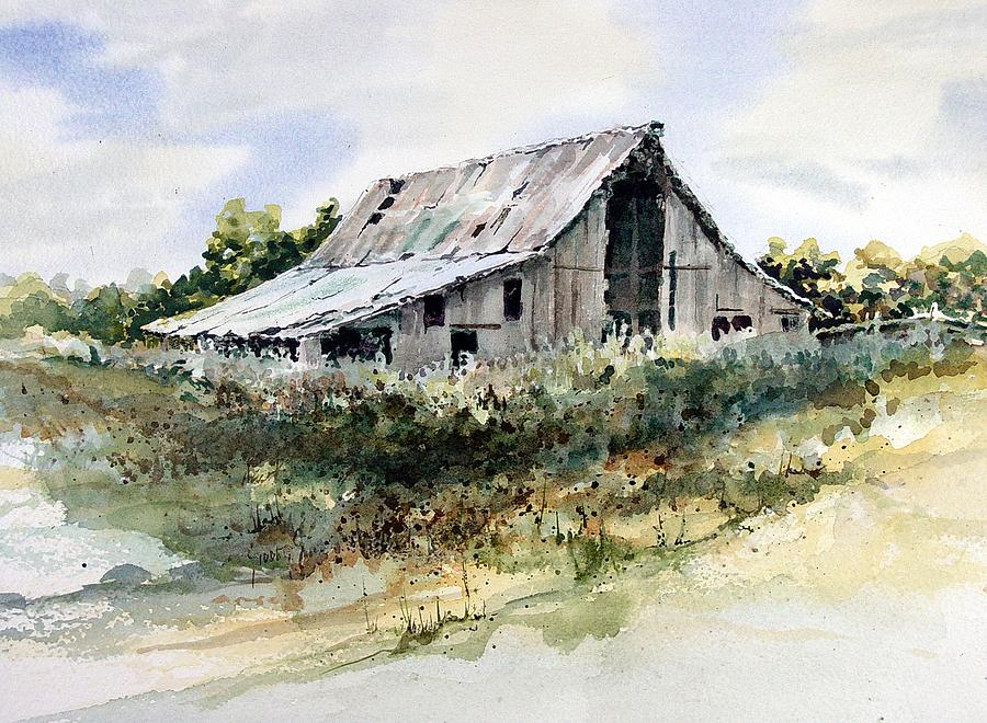 Barn painting by sam sidders for Watercolor barn paintings