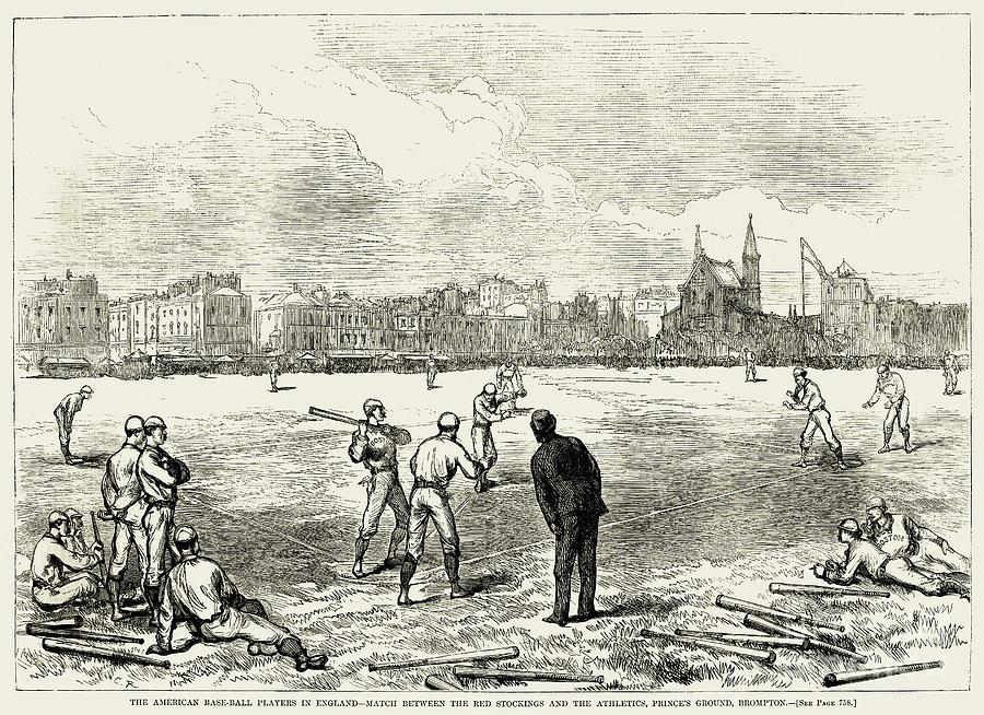 Baseball: England, 1874 Photograph