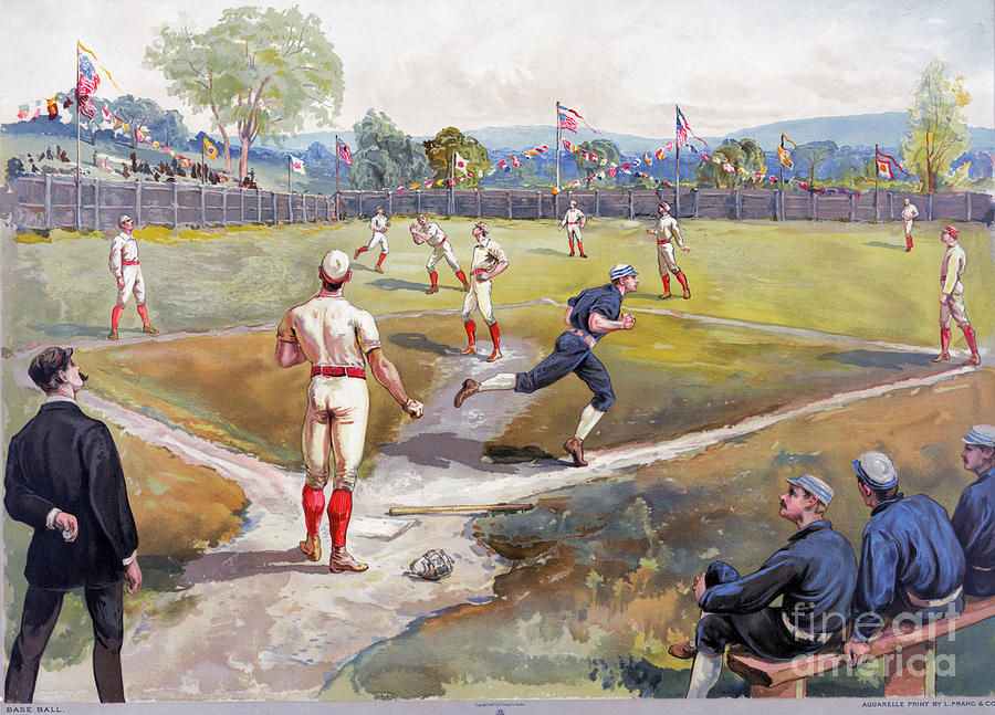 Baseball Game, C1887 Photograph  - Baseball Game, C1887 Fine Art Print