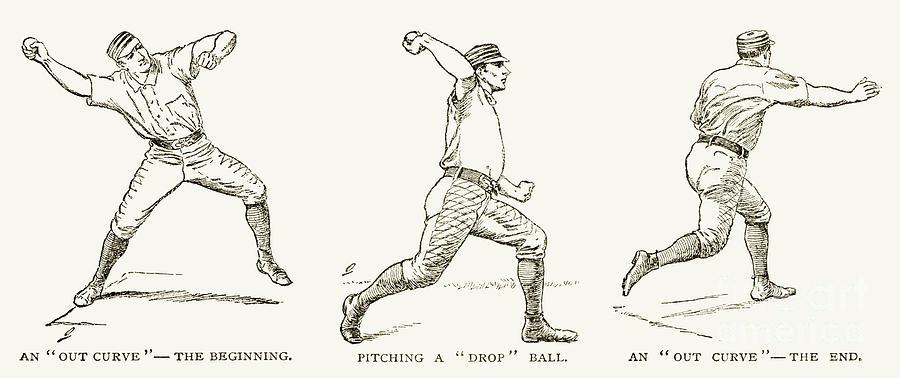 Baseball Pitching, 1889 Photograph