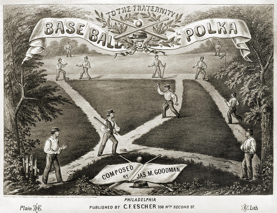 Baseball Polka, 1867 Photograph
