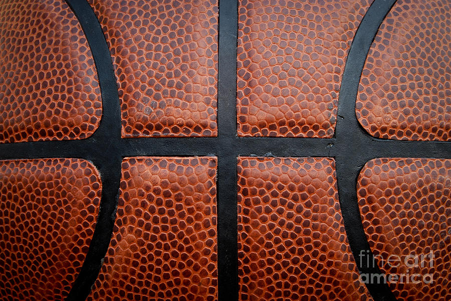 Basketball - Leather Close Up Photograph  - Basketball - Leather Close Up Fine Art Print