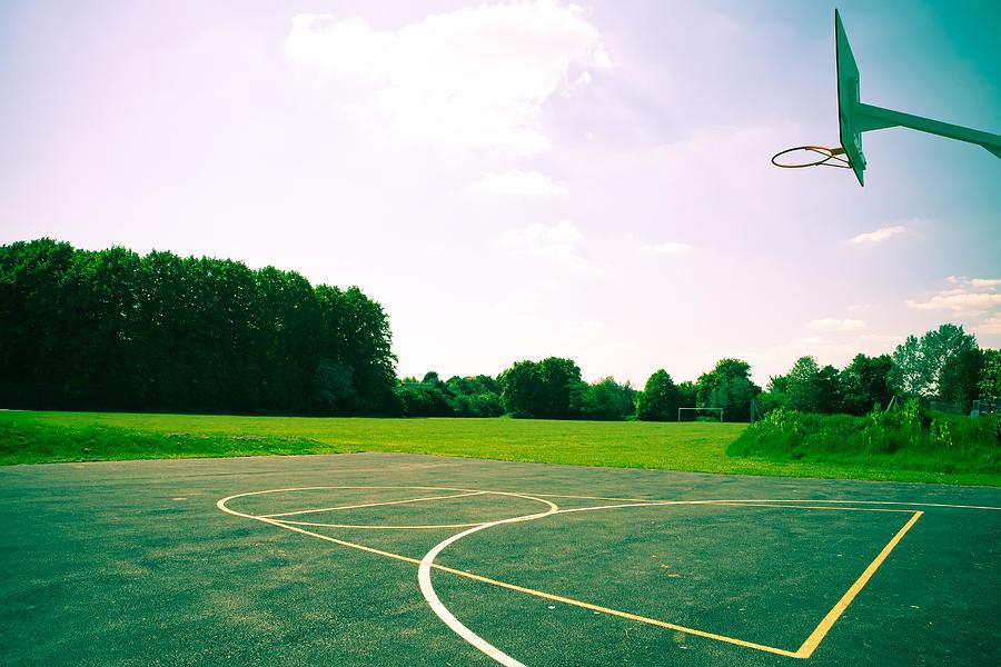 Basketball Court Photograph