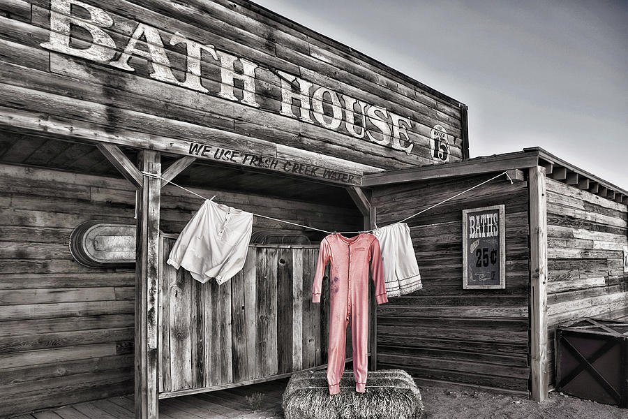Bath House In Old Tucson Photograph  - Bath House In Old Tucson Fine Art Print