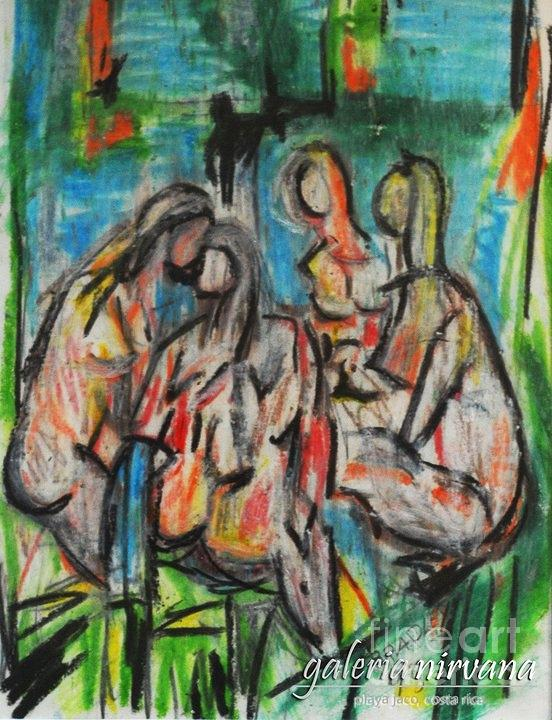 Bathers Painting - Bathers 98 by Bradley