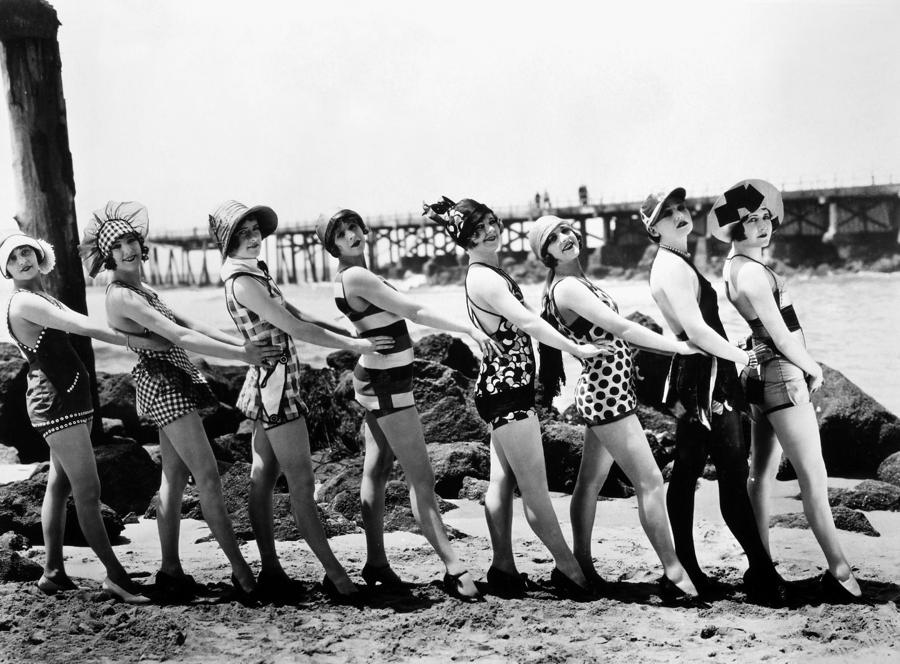 Bathing Beauties, 1916 Photograph