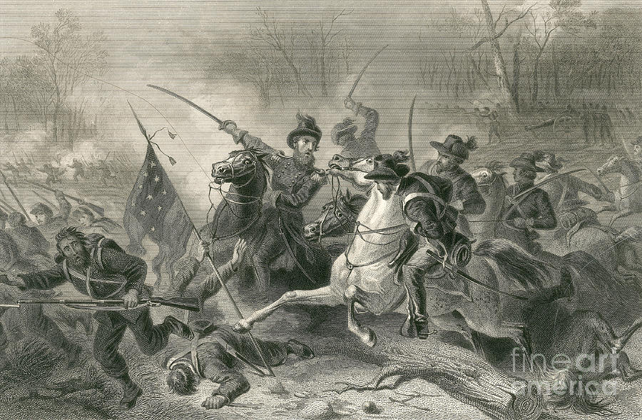 Battle Of Shiloh, Charge Of General Photograph