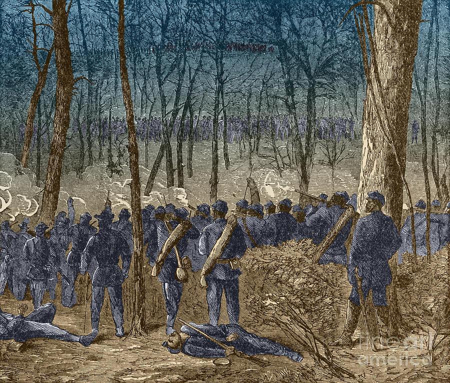 Battle Of The Wilderness, 1864 Photograph