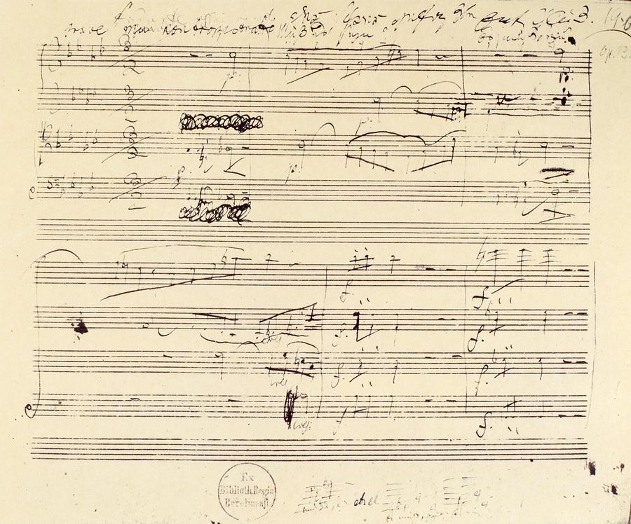 Beethoven Manuscript, 1826 Photograph