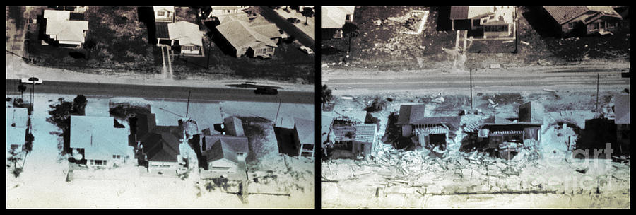 Before And After Hurricane Eloise 1975 Photograph  - Before And After Hurricane Eloise 1975 Fine Art Print