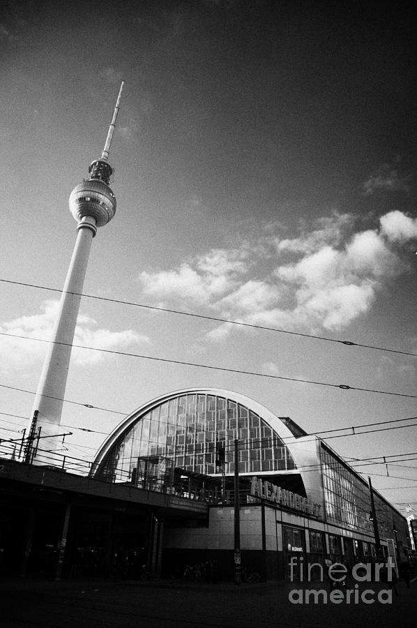 berliner fernsehturm Berlin TV tower symbol of east berlin and the Alexanderplatz railway station Photograph  - berliner fernsehturm Berlin TV tower symbol of east berlin and the Alexanderplatz railway station Fine Art Print
