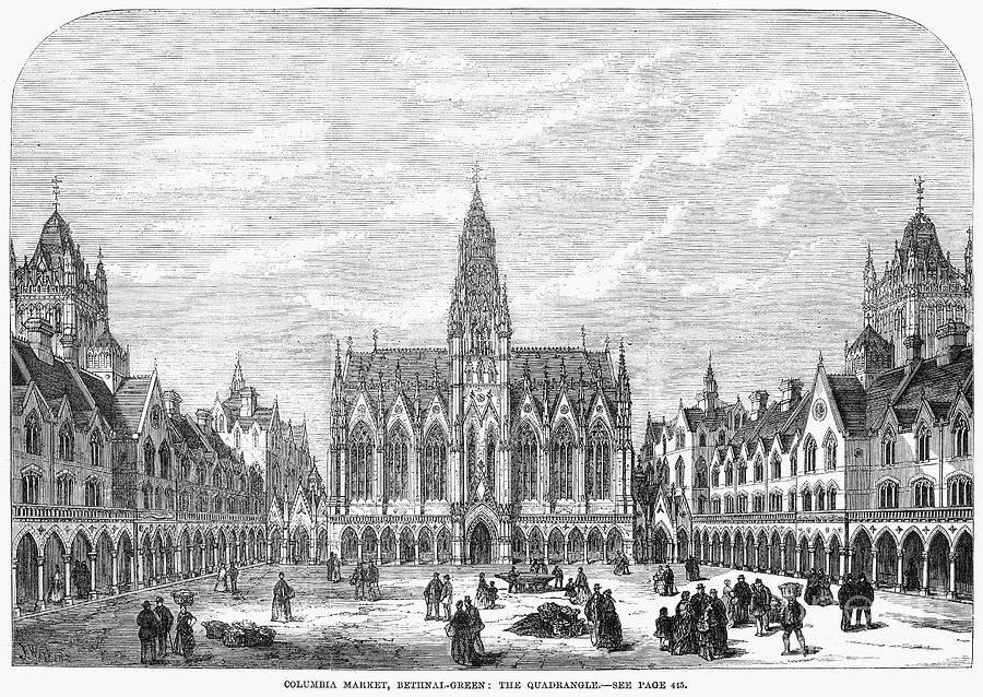 1869 Photograph - Bethnal Green Market, 1869 by Granger