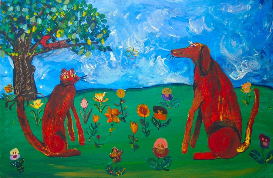Between Friends Painting