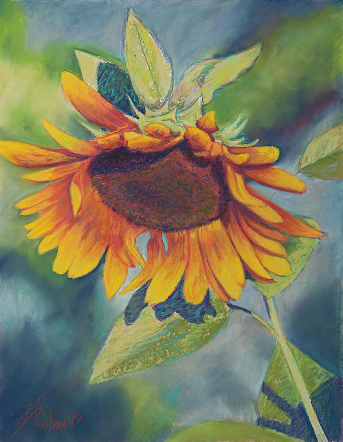 Big Sunflower Painting  - Big Sunflower Fine Art Print